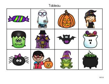Déplacements sur quadrillage (Halloween)