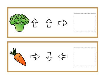 Déplacements sur quadrillage (aliments)