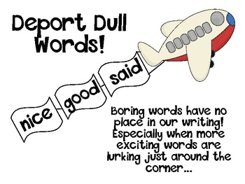 Deport Dull Words - Using synonyms to make writing more in