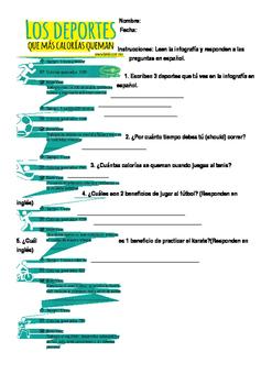 Deportes Infografia con Preguntas
