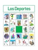 Deportes (Sports in Spanish) Bingo