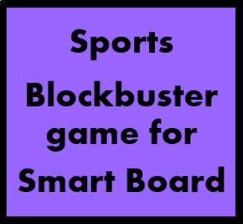 Deportes (Sports in Spanish) Blockbuster for Smartboard