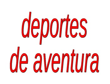 Deportes (Sports in Spanish) activities packet