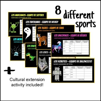 Deportes y Equipos: Online Interactive Activity