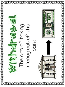 Deposit and Withdraw Personal Financial Literacy Make It, Spend It, Track It