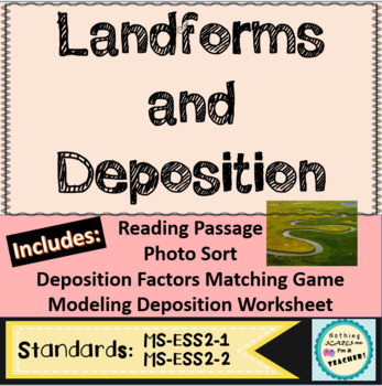 Deposition and Landforms Printable Coloring Worksheet Activity
