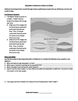 Deposition of Sediment at Rivers and Deltas