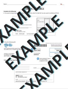 deposits checks and registers quiz financial algebra by alicia