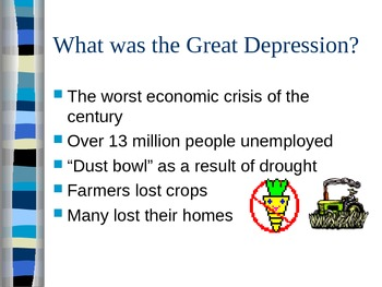 Depression in 1930's Power Point Basic