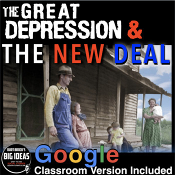 The Great Depression Unit /New Deal Unit - PPTs, Worksheets, Lesson Plans, Tests