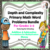 Depth & Complexity Primary Math Word Problems Bundle