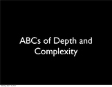 Depth and Complexity