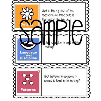 Depth and Complexity Icons Bingo GATE reading game enrichment