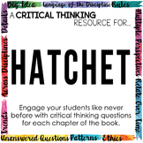 Critical Thinking Resource for Hatchet