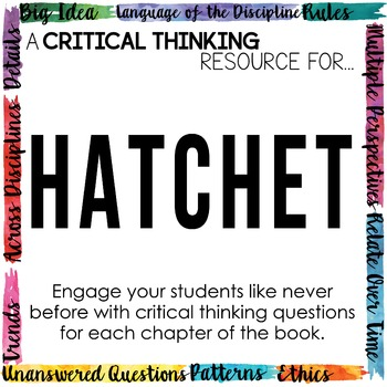 Depth and Complexity  Critical Thinking Resource for Hatchet