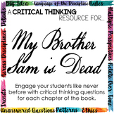Depth and Complexity  Critical Thinking Resource for My Brother Sam is Dead
