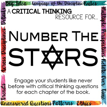 Depth and Complexity  Critical Thinking Resource for Number the Stars