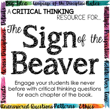 Depth and Complexity  Critical Thinking Resource for Sign of the Beaver