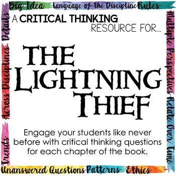 Depth and Complexity  Critical Thinking Resource for The Lightning Thief