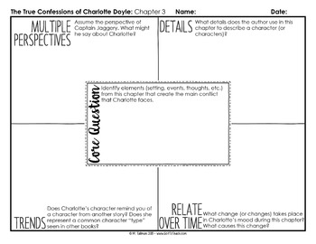 Depth and Complexity  The True Confessions of Charlotte Doyle