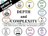 Depth and Complexity ICON posters- GATE/GT gifted and talented