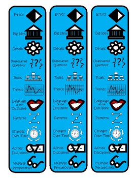 Depth and Complexity Icon Bookmarks