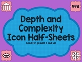 Depth and Complexity Icon Half Sheets