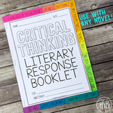 Depth and Complexity  Critical Thinking Literary Response Booklet