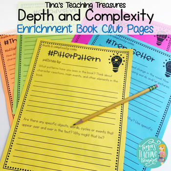 Depth and Complexity Literature circle/book club pages
