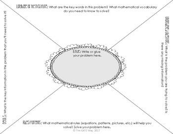 Depth and Complexity Math Problem Solving Frame