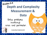 Area and Perimeter Word Problem Frame Featuring Depth and