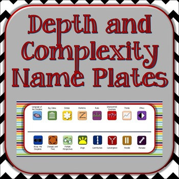 Depth and Complexity Name Plates
