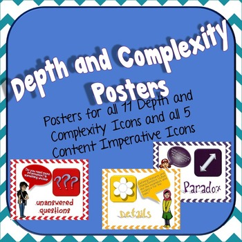 image regarding Depth and Complexity Icons Printable known as Detail and Complexity Icon Poster Established