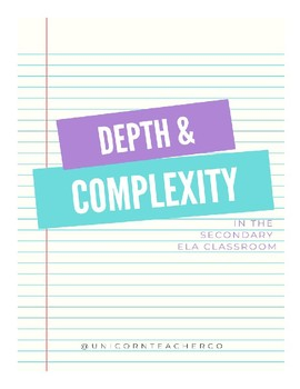 Depth and Complexity Reflection Sheets