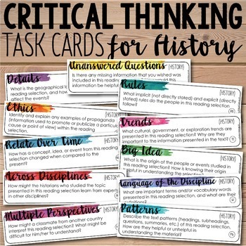 Depth and Complexity  Critical Thinking Task Cards Bundle