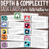 Depth and Complexity  Critical Thinking Task Cards for Literature
