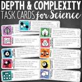 Depth and Complexity  Critical Thinking Task Cards for Science