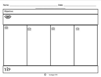 Depth and Complexity Template for Notes with Four Columns