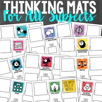 Depth and Complexity | Critical Thinking Mats {For all subjects!}