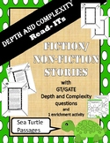 GATE / GT Depth and Complexity passages (fiction and non-fiction)