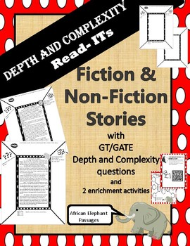 GATE / GT Depth and Complexity passages (fiction and non-fiction) - Elephants