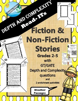 GATE / GT Depth and Complexity passages (fiction and non-fiction) - Weather