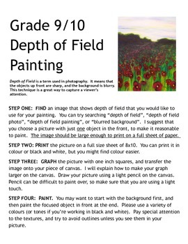 Depth of Field Painting Assignment
