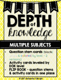 Depth of Knowledge (DOK) Activity Cards, Question Stems, &