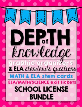 Depth of Knowledge (DOK) Bundle SCHOOL LICENSE