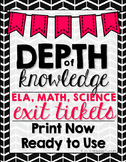 Depth of Knowledge (DOK) Exit Slips