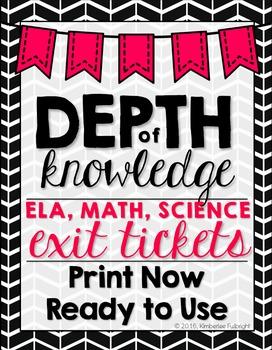 Depth of Knowledge (DOK) Exit Slips