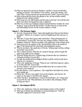 Depth of Knowledge (DOK) Leveled Questions for Devil in the White City