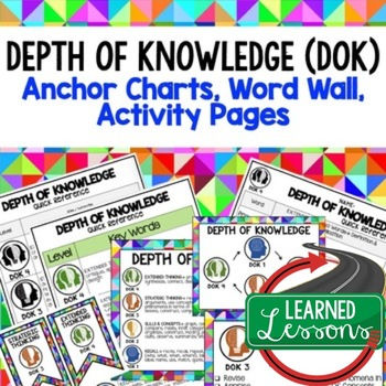 Depth of Knowledge (DOK) Posters, Word Wall, Quick Reference, Teacher PD