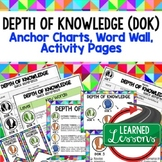 Depth of Knowledge (DOK) Posters, Word Wall, Quick Referen